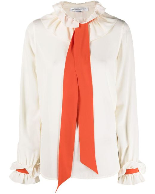 Victoria Beckham Multicolor Pussy-bow Blouse