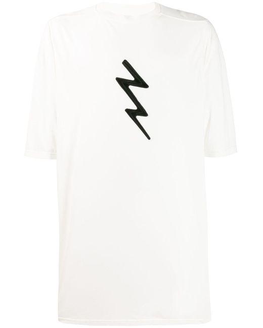 メンズ Rick Owens オーバーサイズ Tシャツ White