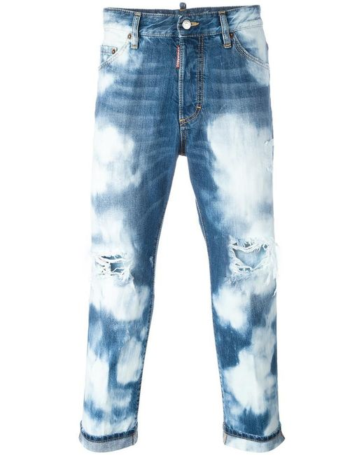 DSquared² | Blue Glamhead Highly Bleached Jeans for Men | Lyst