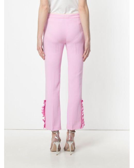 cropped flared trousers - Pink & Purple N Official Site Online mkW0Wsis