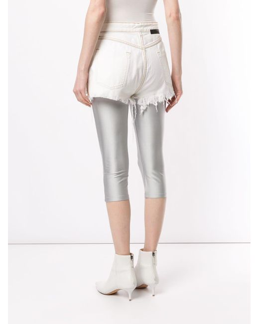 Unravel Project Women's White Button-up Shorts