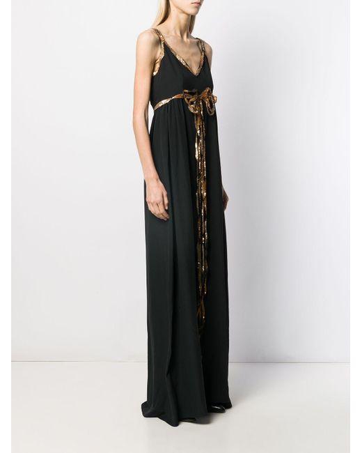 Abiti Da Sera Asos.Gucci Synthetic Sequin Detail Evening Dress In Black Lyst