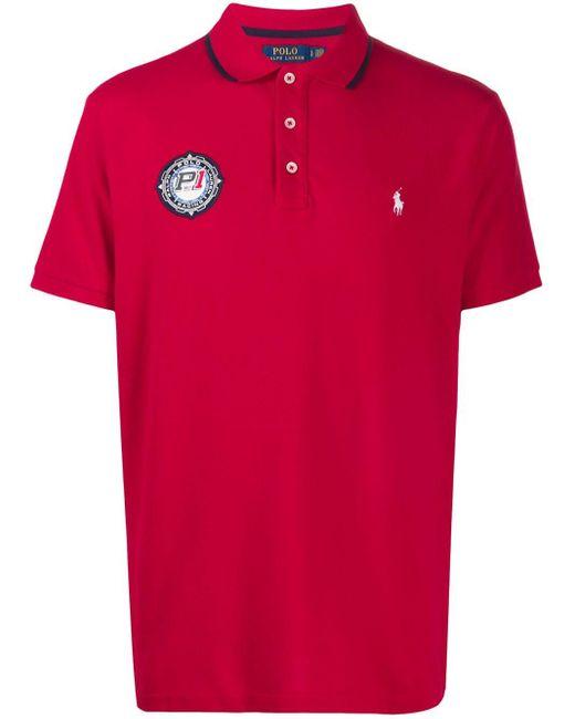 メンズ Polo Ralph Lauren Racing パッチ ポロシャツ Red