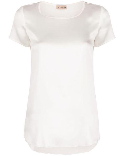Blanca Vita Camiseta de seda Tania de mujer de color blanco oTCIk