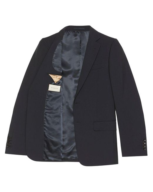 メンズ Gucci スリムフィット スーツ Blue