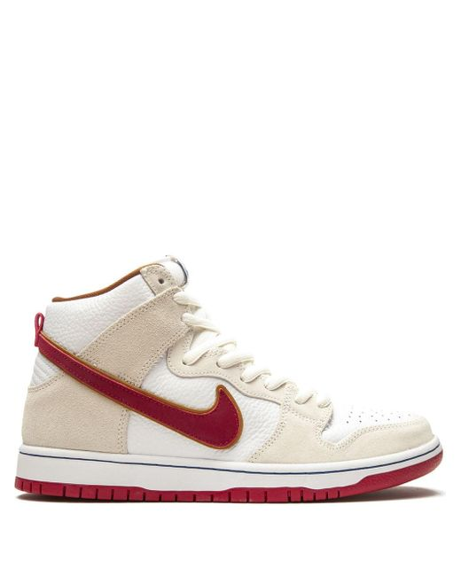 Baskets montantes SB Dunk Cuir Nike pour homme en coloris Blanc - Lyst