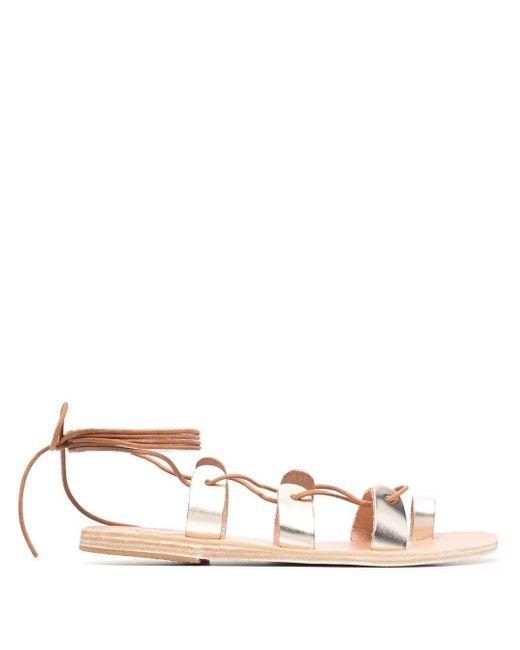 Ancient Greek Sandals Alcyone レースアップ サンダル Metallic