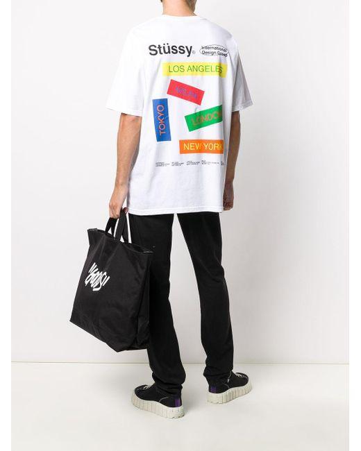 メンズ Stussy ロゴ Tシャツ White