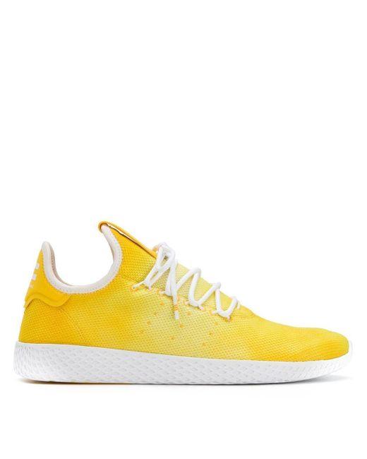 メンズ Adidas レースアップスニーカー Yellow