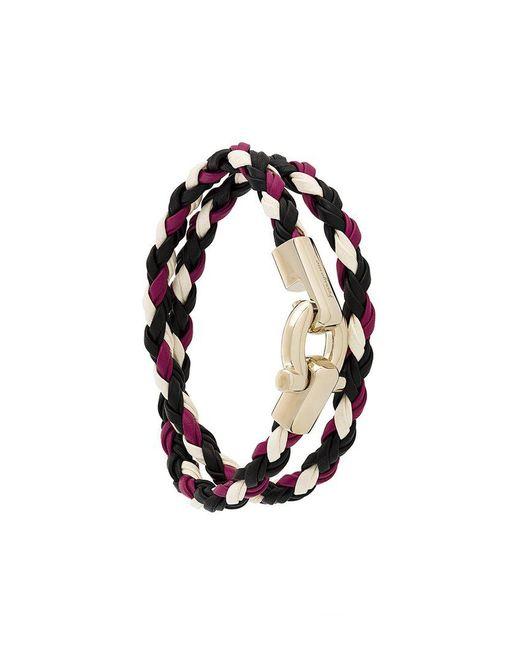 Ferragamo | Multicolor Braided Bracelet | Lyst