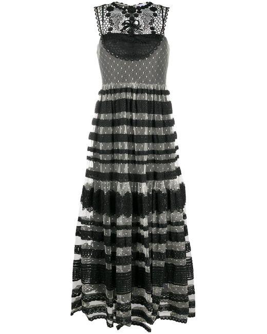 Платье С Кружевными Вставками RED Valentino, цвет: Black