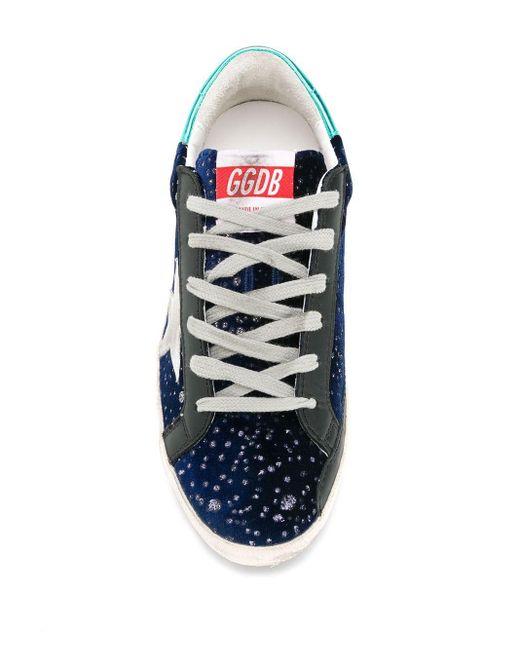 Кеды Superstar Golden Goose Deluxe Brand, цвет: Blue