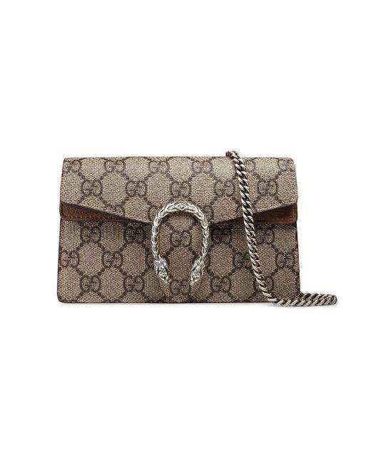 Gucci Multicolor Dionysus GG Supreme Super Mini Bag