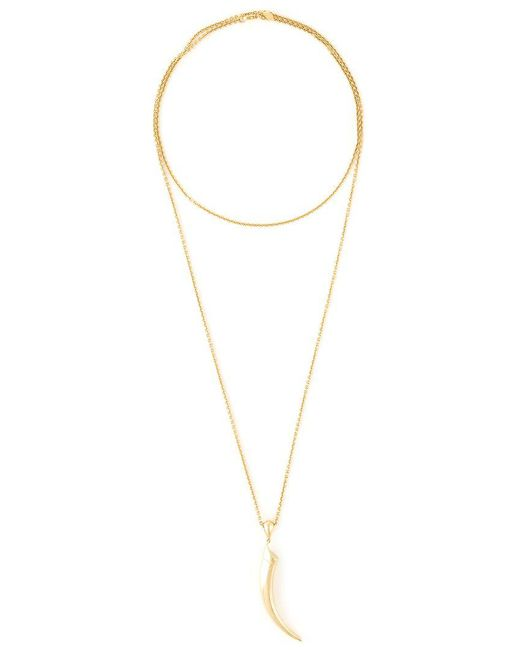Shaun Leane - Metallic 'knife Edge' Long Necklace - Lyst