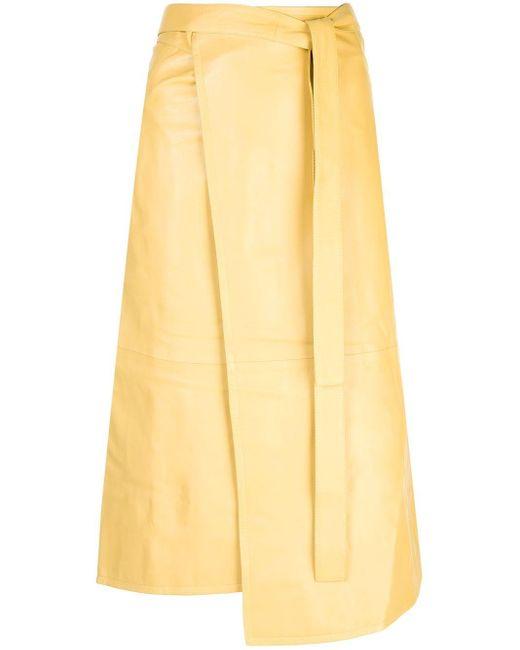 Юбка Миди С Запахом Proenza Schouler, цвет: Yellow