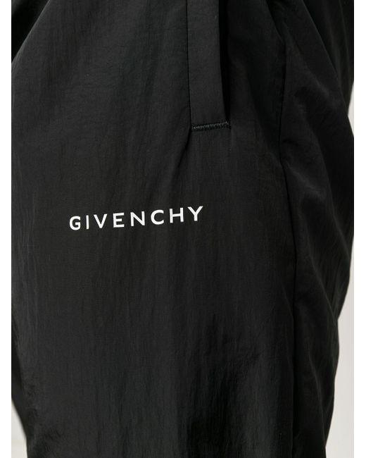 メンズ Givenchy ストレート トラックパンツ Black
