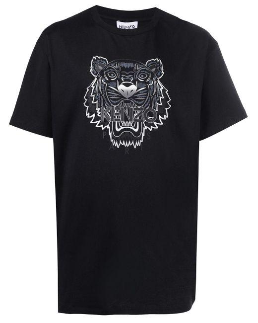 メンズ KENZO タイガーモチーフ Tシャツ Black