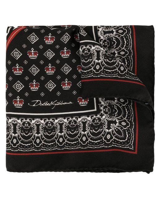メンズ Dolce & Gabbana プリント ポケットチーフ Black