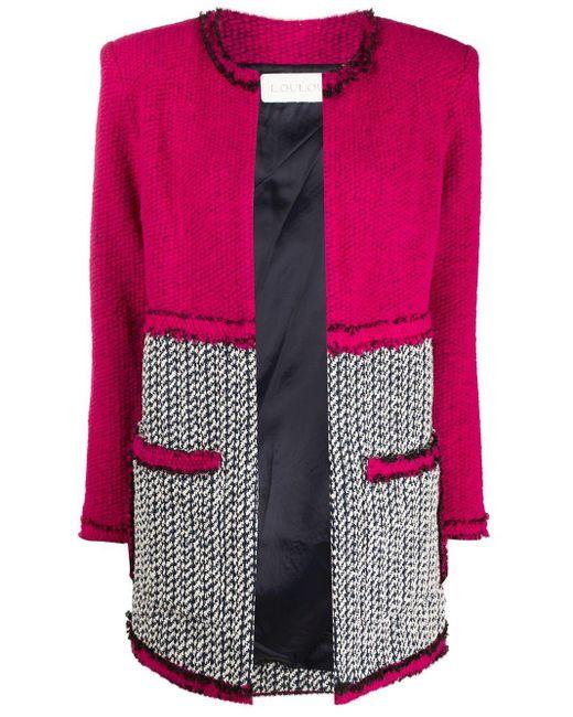 Loulou パネル ニットジャケット Pink