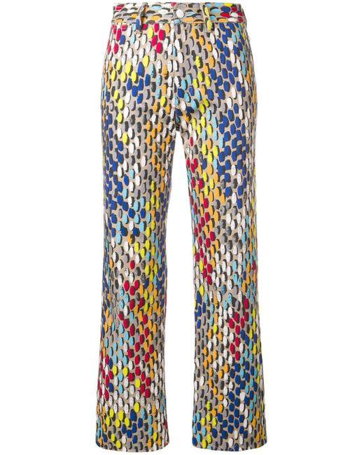 f816eb721546af Simon Miller Jeans Met Print in het Blauw - Lyst