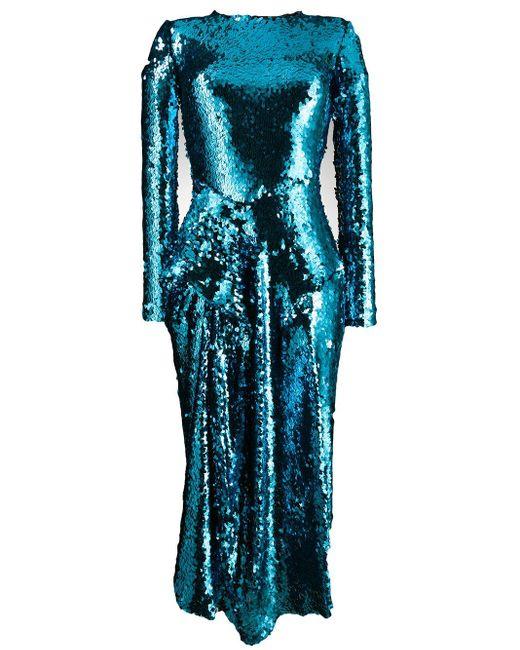 Preen By Thornton Bregazzi Valena スパンコール ドレス Blue
