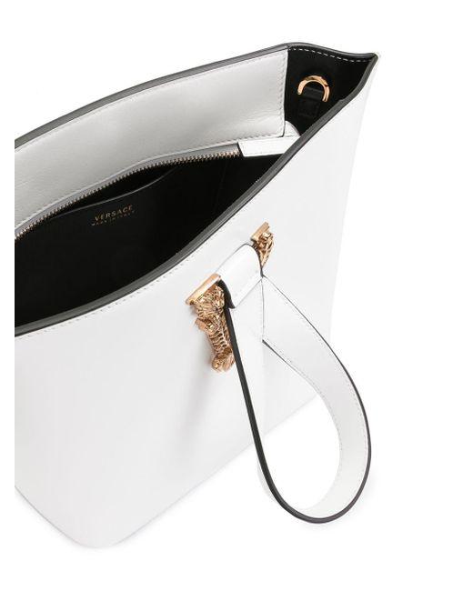 Versace Virtus ロゴプレート ハンドバッグ Multicolor