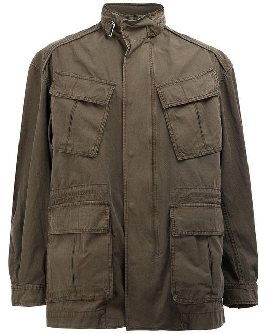Juun.J   Green High Neck Loose-fit Coat for Men   Lyst