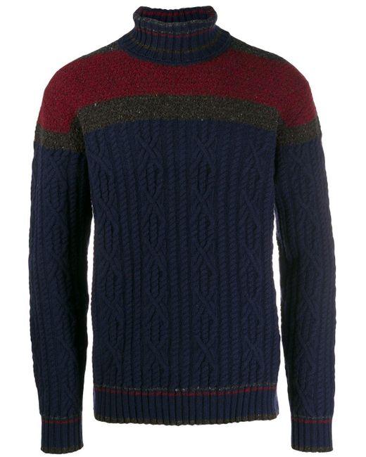 メンズ Etro カラーブロック セーター Blue