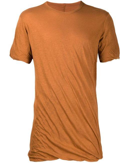 メンズ Rick Owens ドレープ Tシャツ Multicolor