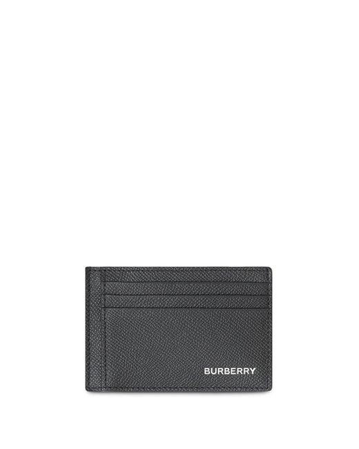メンズ Burberry マネークリップ カードケース Black