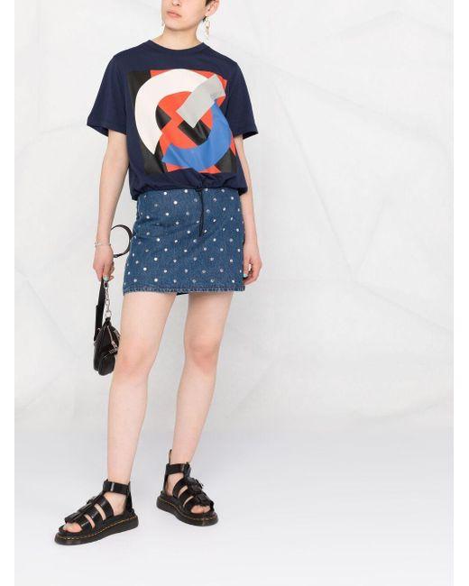 KENZO グラフィック Tシャツ Blue