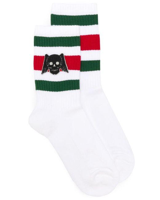 Gucci White Winged Skull Socks
