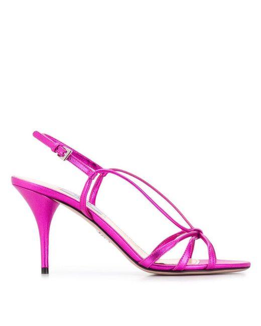 Prada スリングバック サンダル Pink