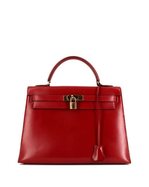 Hermès 1980s プレオウンド ケリー 32 ハンドバッグ Red