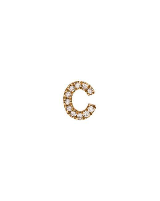 Loquet London ダイヤモンド C レターチャーム 18kイエローゴールド Metallic