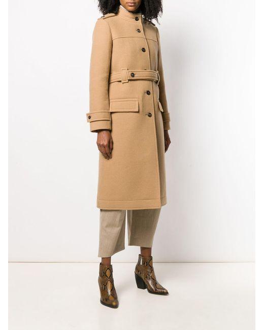 Chloé ベルテッド シングルコート Natural