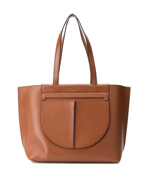 Tod's ポケット トートバッグ Brown