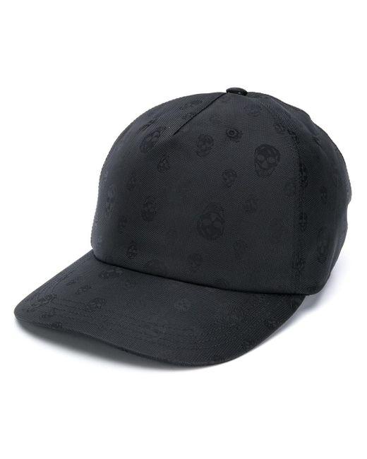 Бейсболка С Принтом Skull Alexander McQueen для него, цвет: Black