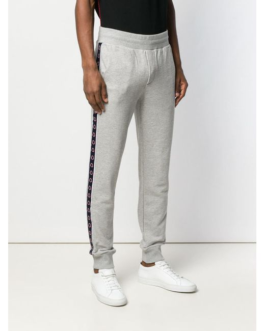 eb1aed3c957772 ... Moncler - Gray Side Logo Track Pants for Men - Lyst ...