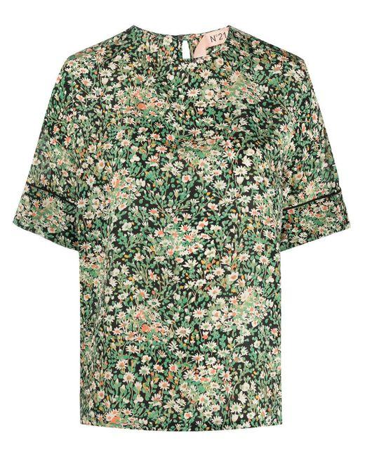 N°21 フローラル Tシャツ Green