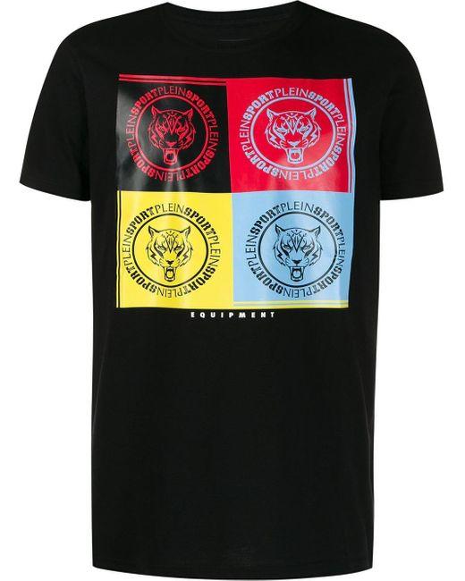メンズ Philipp Plein タイガーパッチ Tシャツ Black