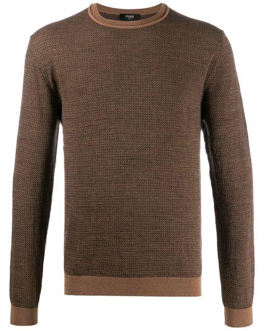 メンズ Fendi Ff インターシャ セーター Multicolor