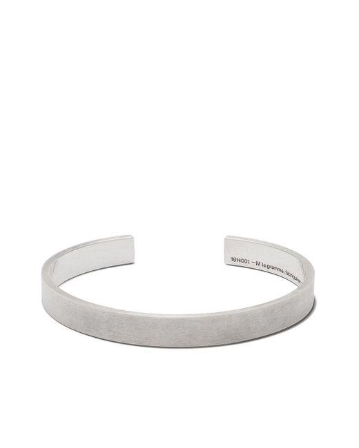Le Gramme Metallic 21g Brushed Logo Bracelet