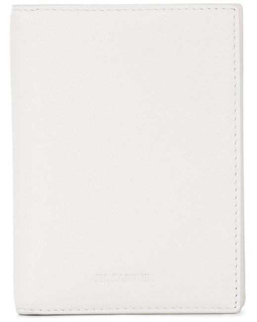Jil Sander - White Foldover Cardholder - Lyst