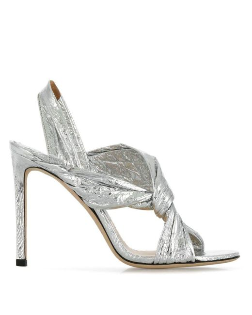 Jimmy Choo Lalia 100 サンダル Metallic
