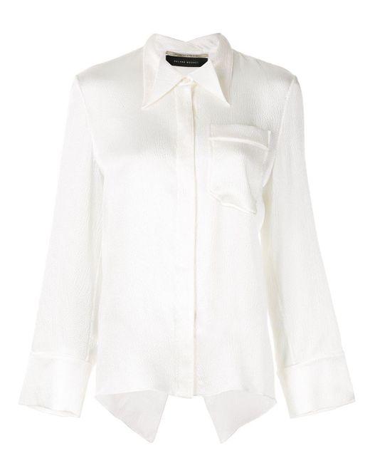 Roland Mouret White Algar Shirt