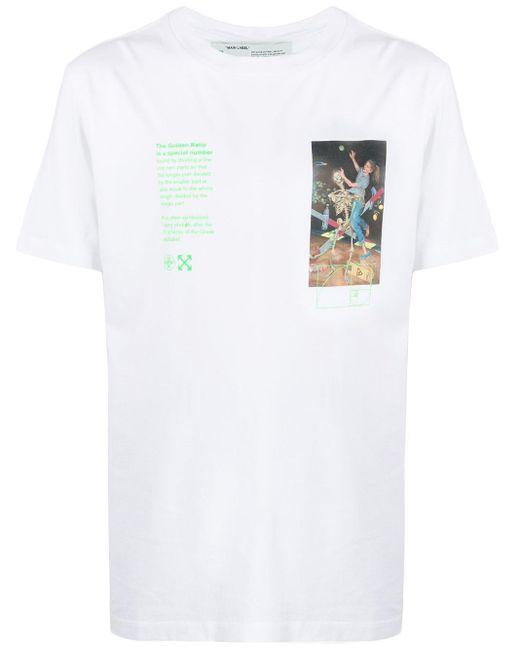 メンズ Off-White c/o Virgil Abloh Pascal Painting Tシャツ White