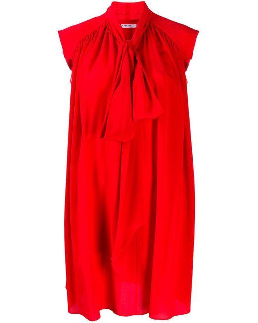 Givenchy プリーツ ドレス Red