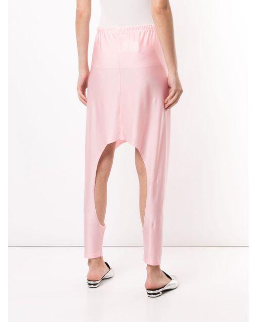 Comme des Garçons カットアウト トラックパンツ Pink