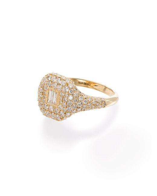 SHAY パヴェダイヤモンド リング 18kイエローゴールド Metallic